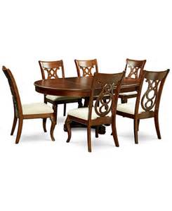 bordeaux pedestal round 7 pc dining room set table 6