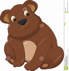Cute Brown Bear Cartoon Stock Vector - Image: 53215736