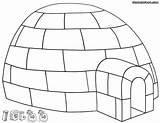 Igloo Coloring Pages Colorings sketch template