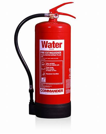 Water Fire Spray 6ltr Plus Extinguishers Commander