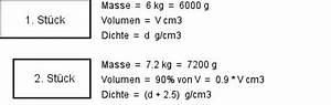 Masse Berechnen Mit Dichte : mathematische textaufgaben beispiel 6 ~ Themetempest.com Abrechnung