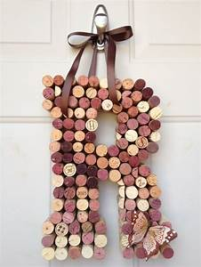 25 creative wine cork letters ideas to discover and try With letter wine