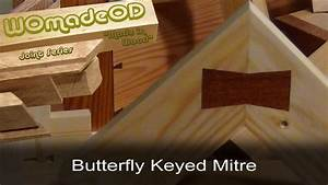 Butterfly Keyed Mitre - YouTube