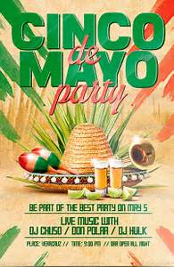 Cinco de Mayo Party Flyer Poster Template… | FLYERS PARTY ...