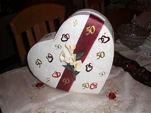 Cadeau 50 Ans De Mariage Parents : d co de table et urne pour les 50 ans de mariages des parents de mon cher et tendre merci gwen ~ Melissatoandfro.com Idées de Décoration