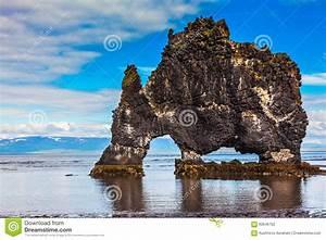 The Cliff In Iceland As Huge Prehistoric Monster Stock ...