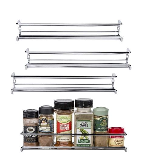 Metal Spice Rack Wall Mount by Spice Rack Organizer For Cabinet Door Mount Or Wall