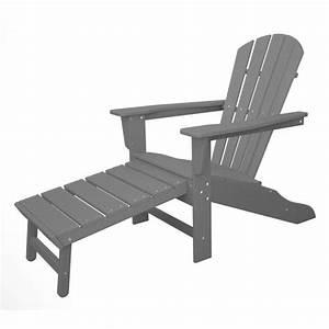 Adirondack Chair Kunststoff : polywood adirondack chair liegestuhl mit fussteil grau casa bruno american home decor 599 00 ~ Frokenaadalensverden.com Haus und Dekorationen