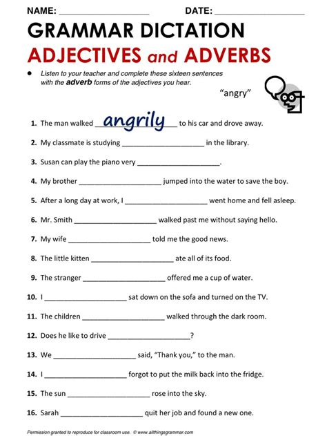 grammar adjectives and adverbs http www