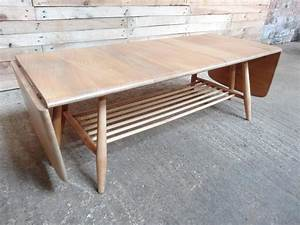 extra large 1960s ercol dropdown ladder rack elm or beech With extra large coffee tables for sale