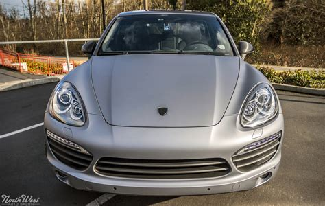 porsche cayenne matte porsche cayenne full matte silver vehicle wrap with custom