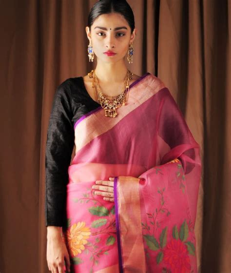 Buy Timeless Treasure by Ekaya Hand Woven Kora Sarees