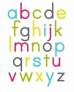 alphabet poster alley kids children39s nursery art With letter poster