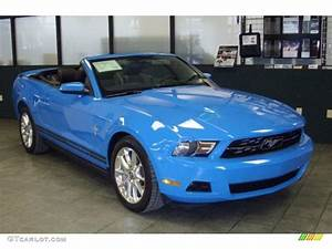 2010 Grabber Blue Ford Mustang V6 Premium Convertible #26460241 | GTCarLot.com - Car Color Galleries