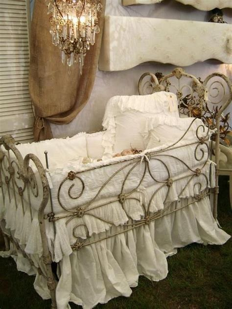shabby chic baby cribs pin by melanie bergeson on vintage baby cribs pinterest