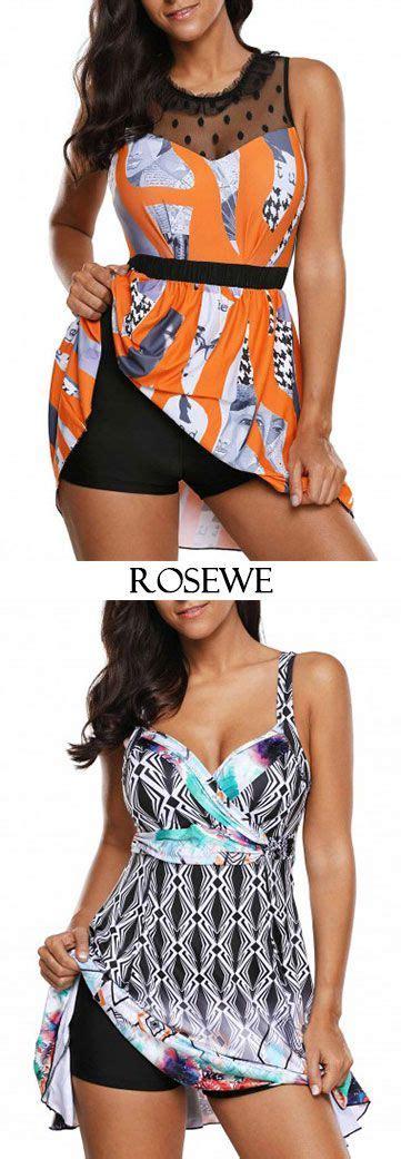 Patterned Panel Cutout Swimdress cutout back mesh panel swimdress and shorts swimwear