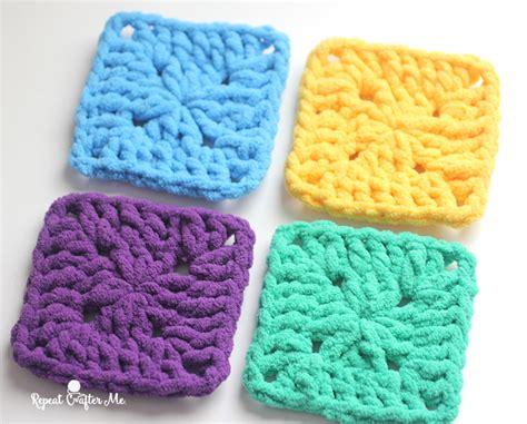 Bright And Bulky Bernat Blanket Squares