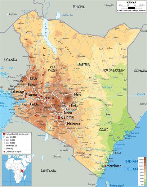 map  kenya africa