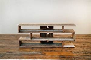 reclaimed wood tv console Roselawnlutheran