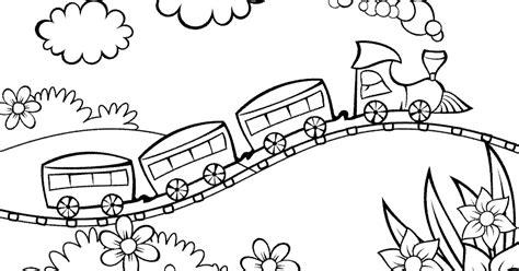 gambar pemandangan untuk anak sd belajar mewarnai dan