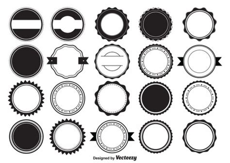 circle logo template retro badges and labels vector free elements shape vector free