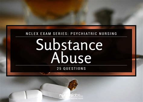 nclex psychiatric nursing substance abuse  items