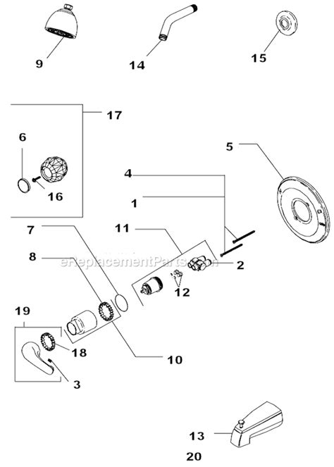 Delta Bath Faucet Parts by Delta Faucet 134900 Parts List And Diagram