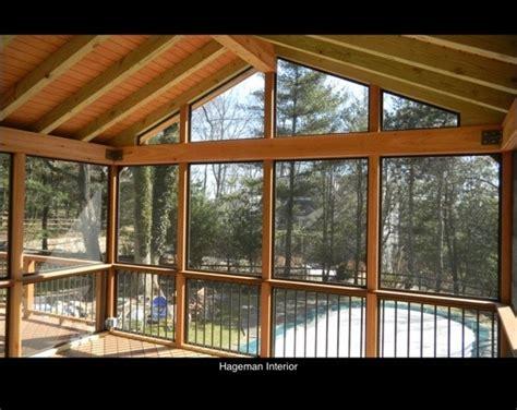 screen porch ipe floor cedar posts ipe rail in