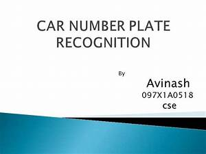 Car Number Plate Recognition