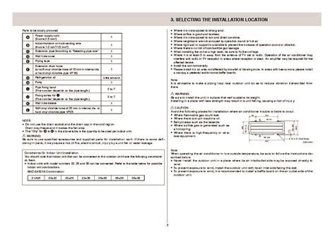 Mitsubishi Air Conditioner Installation by Mitsubishi Mxz 2a52va Air Conditioner Installation Manual