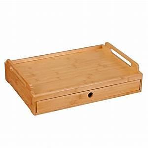 Table Petit Dejeuner Lit : plateau bambou avec tiroir pour repas tv ou petit d jeuner au lit ~ Teatrodelosmanantiales.com Idées de Décoration