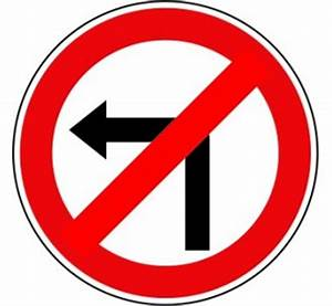 Panneau routier Interdiction tourner gauche prochaine