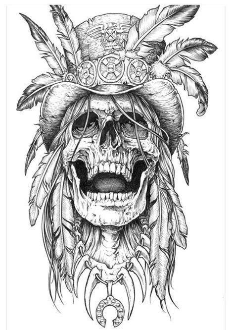 Eye catching tattoo sketches design ideas 1   Sketch tattoo design, Indian skull tattoos, Skull