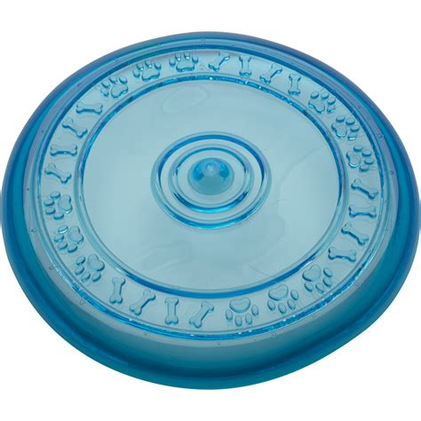 rubber toyz blue toyz chewable rubber frisbee puppy petface outdoor