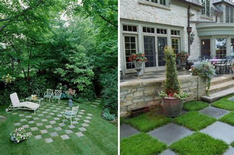 grass and tile in garden 2