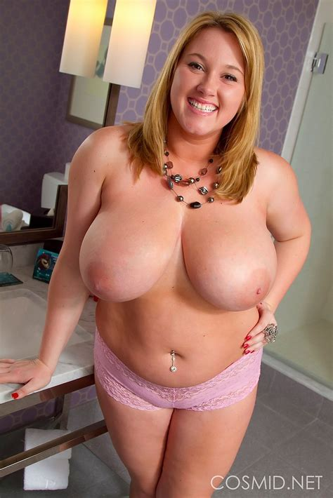 Curvy Brooke Max S Huge Tits In The Bathroom Boobgoddess