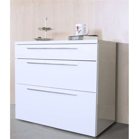 chambre adulte cdiscount springfield commode blanche laquée 3 tiroirs achat