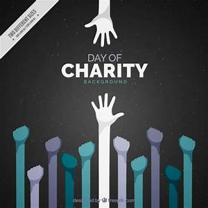 International charity day with raised hands Vector | Free ...