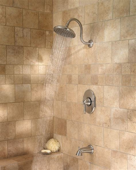 pfister hanover  handle tub shower faucet brushed