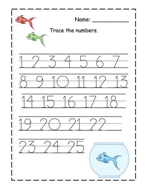 free printable preschool worksheets tracing numbers 1 20