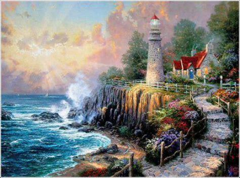 the painter of light thomas kinkade lighthouse