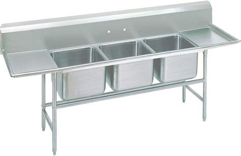 advance tabco    rl   compartment sink   drainboards standard