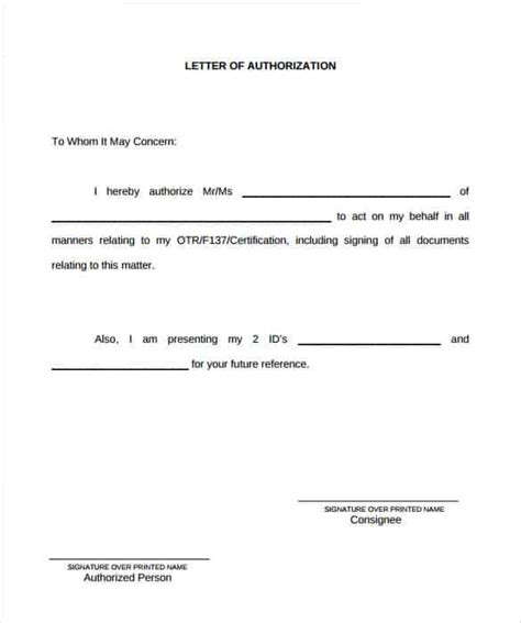 authorization letters samples   writing