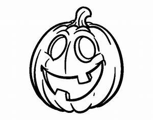 Dibujo de Calabaza de Halloween para Colorear - Dibujos.net