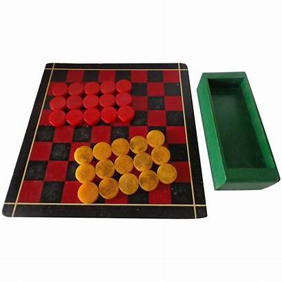 Butterscotch Checkers 1930s Daughters Antiques Three