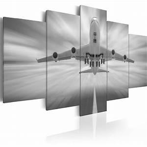 Wandbilder Grau Weiss : wandbilder xxl flugzeug grau schwarz wei leinwand bilder wohnzimmer 030103 1 ebay ~ Sanjose-hotels-ca.com Haus und Dekorationen