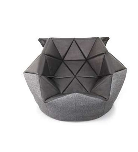 geometrically structured slumped seating unique bean bag chair