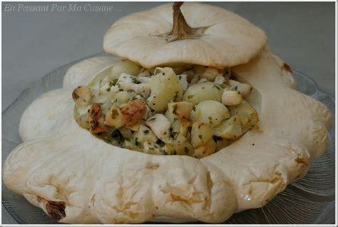 cuisiner patisson blanc pâtisson farci au poulet et à la persillade en passant
