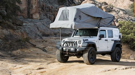 jeep wrangler overland tent featured vehicle at overland jeep jk expedition portal
