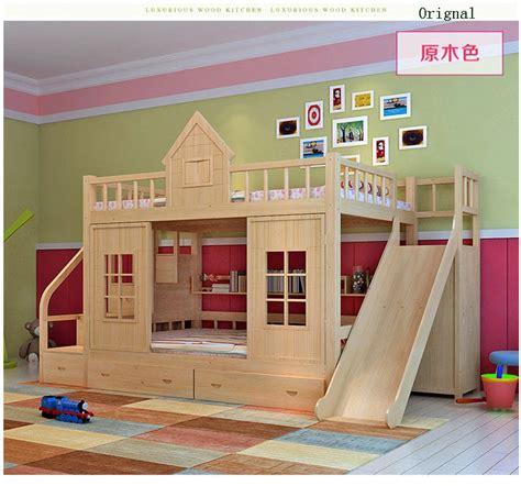 achetez en gros lit superposé en bois en ligne à des